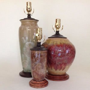 Jim Fox Pottery Lamps