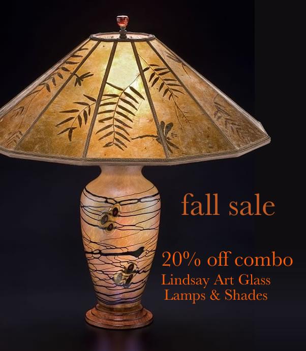 T247 Lindsay Art Glass Sale Lamp