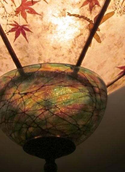 c328 When Dragons Fly art glass detail