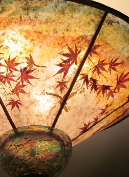 c328 When Dragons Fly detail mica ceiling lamp shade