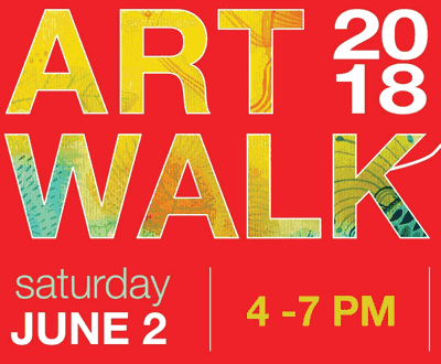 Art Walk 2018, Saturday June 2, 4-7pm