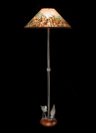 Shorebird Floor Lamp, Colorful Round Mica Shade
