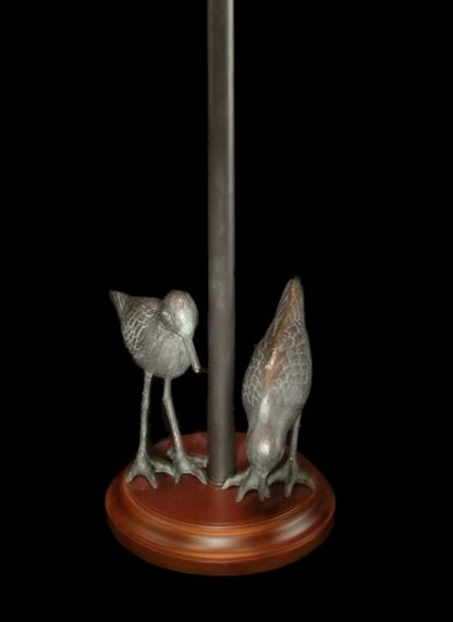 Shorebird Floor Lamp, Colorful Round Mica Shade detail- base