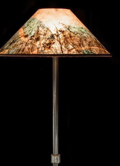 Shorebird Floor Lamp, Colorful Round Mica Shade detail