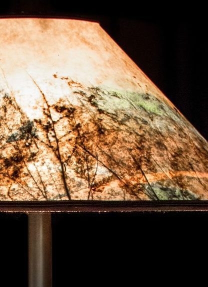 Shorebird Floor Lamp, Colorful Round Mica Shade detail-close up