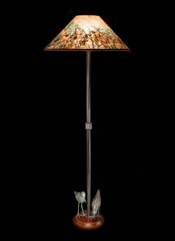 Shorebird Floor Lamp Colorful Round Mica Shade Sue Johnson