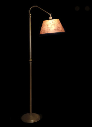 F359 Adjustable Arm Brass Bridge Lamp with Light Mica Lamp Shade