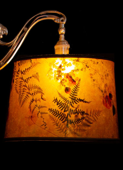 F360 Parrot Bridge Lamp Mica lampshade with ferns