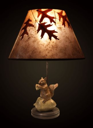 T364 Metal Squirrel Table Lamp