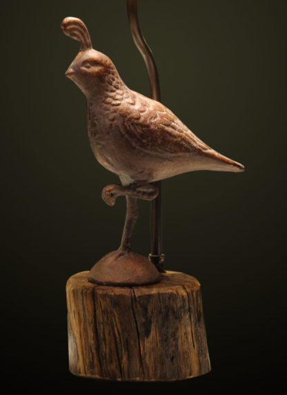 T365 Metal Quail Table Lamp base detail