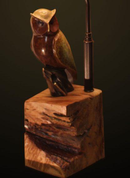 T366 Night Flyer Owl Lamp base detail