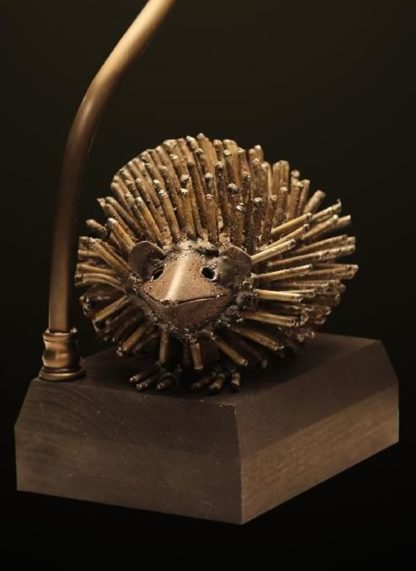 T369 Recycled Metal Hedgehog table lamp base