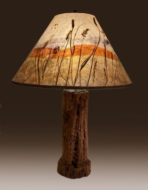 Sale Lamp 3A, Antique Cholla Cactus Lamp