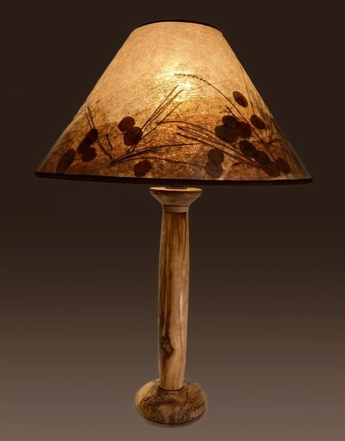 Sale lamp 3B, Aspen wood lamp