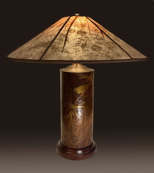 Sale Lamp 3D, Antique Japanese Kiri Wood