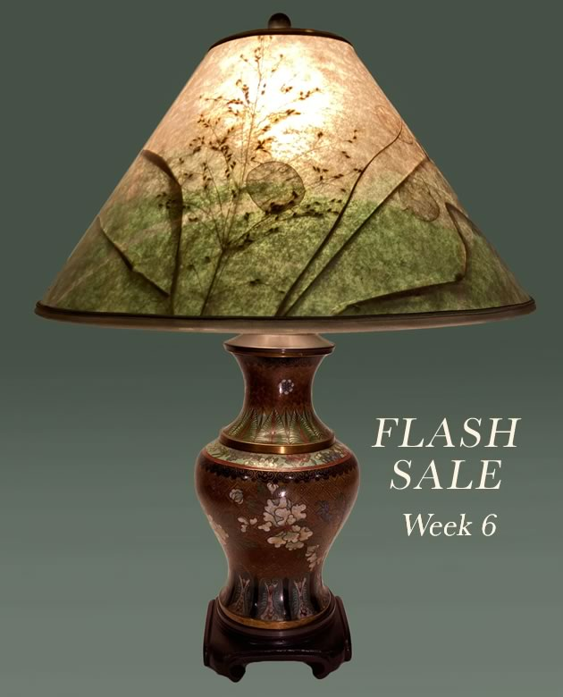Lamp Sale, Antique Cloisonne 6B